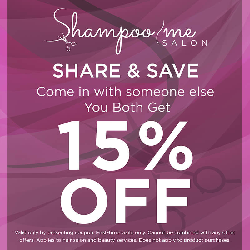 Share and Save 15% Off